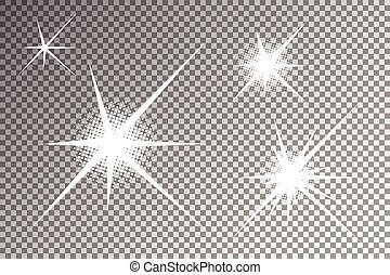 Glowing light effects - Sparkling and shining stars vector,...