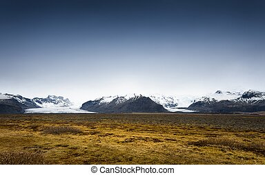 Scenic mountain landscape shot - Large amazing mouintains of...