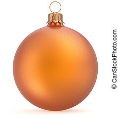 Christmas ball orange New Year's Eve decoration tree bauble