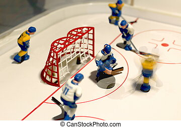 hockey goalie - hockey table game goalie macro shot