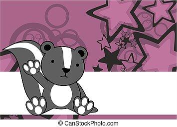 sweet baby skunk cartoon background in vector format very...