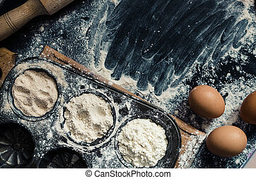 Different kind of flour
