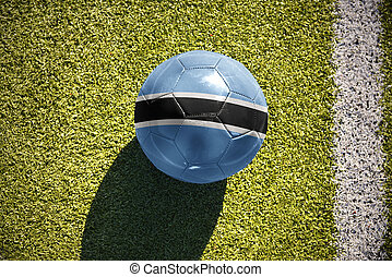football ball with the national flag of botswana lies on the...