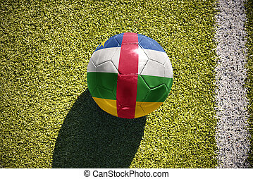 football ball with the national flag of central african...