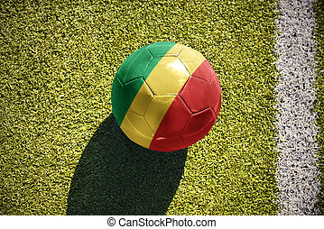 football ball with the national flag of republic of the...
