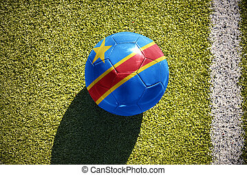 football ball with the national flag of democratic republic...