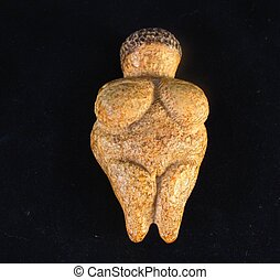 A Female Fertility Idol - Venus of Willendorf a Paleolithic...