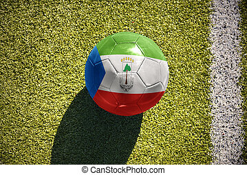 football ball with the national flag of equatorial guinea...