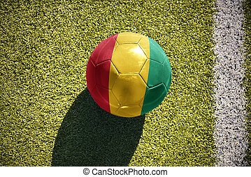 football ball with the national flag of guinea lies on the...