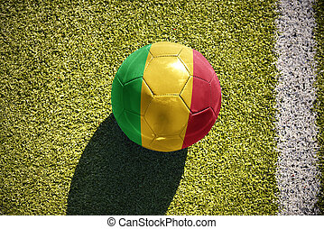 football ball with the national flag of mali lies on the...
