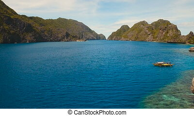 Tropical islands, aerial view. El Nido