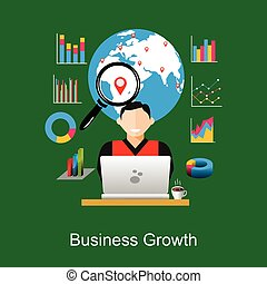 Business growth or world economy concept illustration.