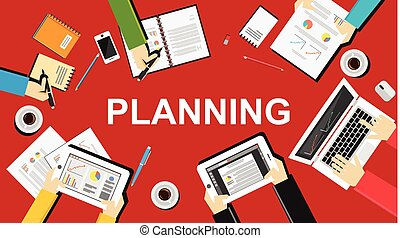 Flat design illustration concept for business plan,...