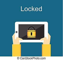 Locked phone for security concept illustration.