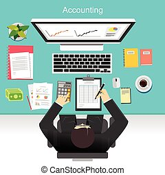 Business accounting concept illustration.