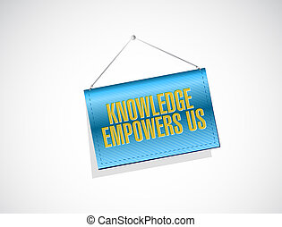 knowledge empowers us banner sign concept
