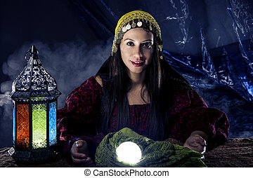Psychic Reading with Crystal Ball and Fortune Teller -...