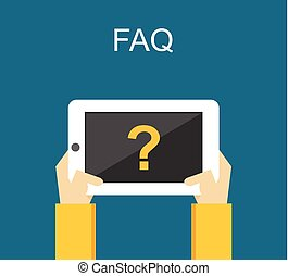 Frequently Asked Questions FAQ concept illustration concept. Online support concept.