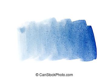 acuarela, azul, Plano de fondo, cobalto