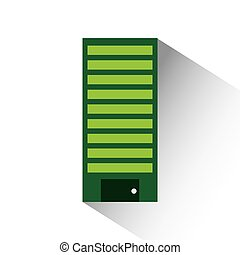 green building icon over white background. colorful design....