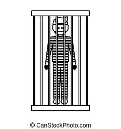 Isolated guilty design - Guilty icon. Law justice legal...