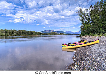 Canoeing South Nahanni River - South Nahanii River...