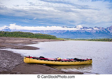 Liard river, Northwest Territories, Canada - Canoeing Liard...