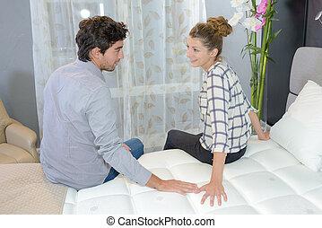 touching the mattress