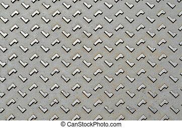 Diamond steel plate texture