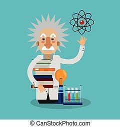Colorful Einstein design - Einstein icon. Science laboratory...