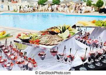 Buffet, Al aire libre