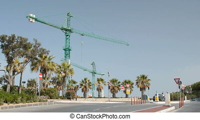 Horizontal contruction cranes