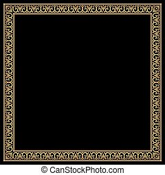 Vector Greek ornament. - Greek style frame with vintage...