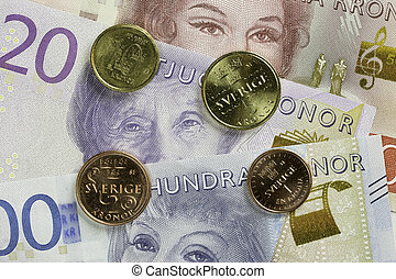 Swedish Currency Close Up.