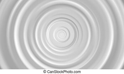 White and grey smooth circles video animation - White and...