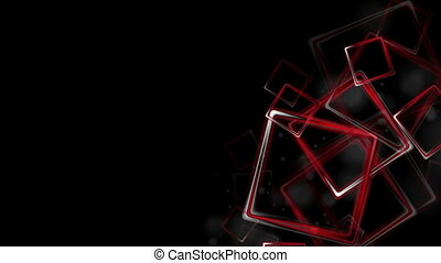 Dark red glossy squares abstract video animation