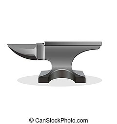 Single horn anvil simple icon isolated on white - Anvil...