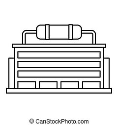 Power station icon, outline style - Power station icon....