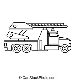 Fire truck icon, outline style