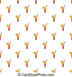 Fruit cocktail pattern, cartoon style