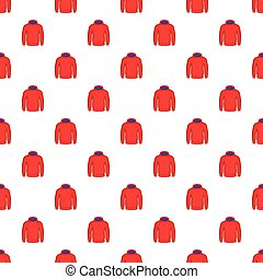 Men winter sweatshirt pattern, cartoon style - Men winter...