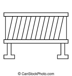 Road barrier icon, outline style - Road barrier icon....