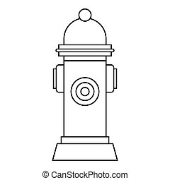 Fire hydrant icon, outline style - Fire hydrant icon....
