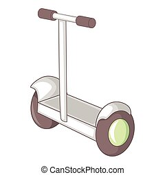 Electric segway icon, cartoon style - Electric segway icon....