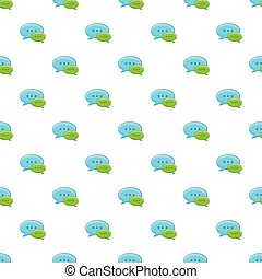 Speech bubble conversation pattern, cartoon style - Speech...