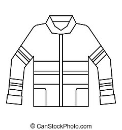 Fireman jacket icon, outline style - Fireman jacket icon....