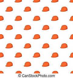 Construction helmet pattern, cartoon style