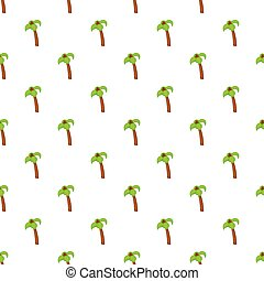 Palm tree with coconuts pattern, cartoon style
