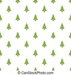 Fur tree pattern, cartoon style - Fur tree pattern. Cartoon...