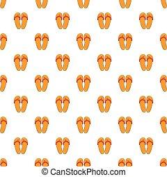 Flips flops pattern, cartoon style